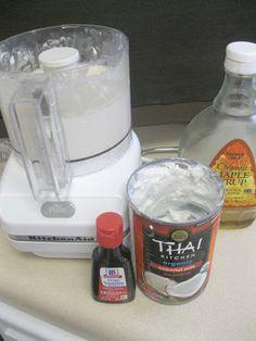 Coconut Milk Vanilla Ice Cream.  Vegan, Healthy, and Delicious!  via So There. by Amy
