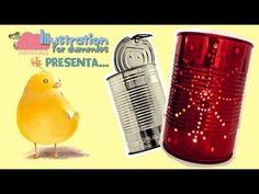 Tutorial come fare delle Lanterne con le lattine (per decorare la tavola di Natale o Capodanno) - YouTube
