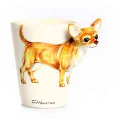 Chihuahua Short Hair Mug Brown, $28, now featured on Fab.