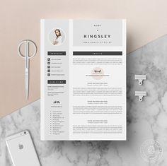 Modèle de CV professionnel et lettre par OddBitsStudio sur Etsy