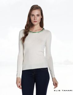 ELIE TAHARI Women's Ruella Silk Cashmere Blend Sweater