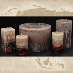 Inch Round or Square Giant Candle Giant Candles, Square Candles, Round Candles, Large Candles, Rustic Candles, Pillar Candles, Candle Store, Burning Candle, Candle Making