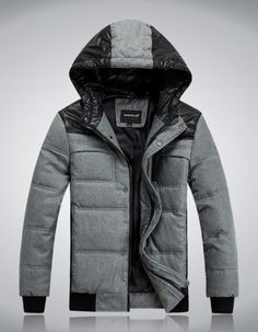 Moncler Namur Men Checked Nylon & Wool Detachable Hood Jacket ...