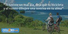 """""""No dejes que un mal día arruine tu estado de ánimo, agarra esa bicicleta ahora! """" - Visítanos en CICLIZMO.COM (Tienda Online) #FrasesCiclizmo"""