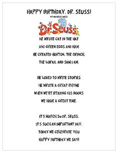 Happy Birthday, Dr. Seuss Poem