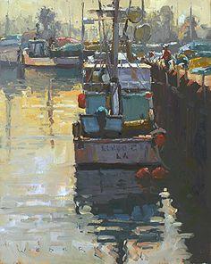 Docked by Jim Wodark Oil ~ 20 x 16