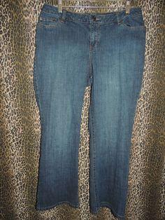 Venezia Red Tri-Angle Women's Plus Denim Stretch Boot Cut Blue Jeans Size 2 Pet #Venezia #BootCut