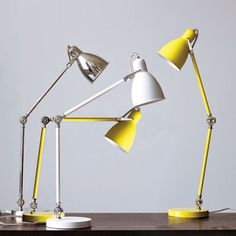Industrial Task Table Lamps | west elm: Love this task lamp, especially the yellow $79