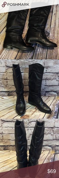 ‼️24HR SALE PRICE‼️L L BEAN Slouch Tie Boots Nice pair of riding boots that tie at the foot and a slouch style. Leather is in excellent condition with a few minor rubs on the heels. They also have a couple of places at the toe area on the sole that appears to be glue. See last pic for blemishes before purchasing. These are awesome boots L.L. Bean Shoes Heeled Boots