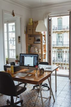 Lola Giardino's workspace in Barcelona / photo by Cecilia Renard