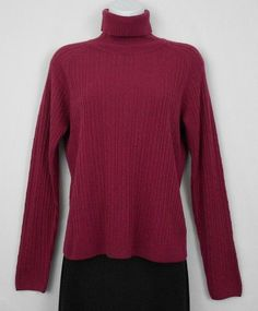 5a7fd67965 east 5th Womens Sweater Red Size M S Acrylic Long Sleeve Cable Knit  Turtleneck  East5th