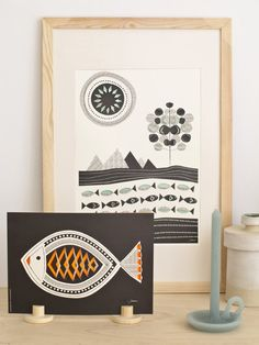 Jurianne Matter - pop-up poster A4 Fish | Wonen | Babongo