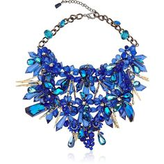 Anabela Chan Women Beasts Collection Necklace (1.690.250 HUF) ❤ liked on Polyvore featuring jewelry, necklaces, accessories, jewels, colar, blue, jewel necklace, antique necklace, swarovski crystal jewelry and gold plated necklace