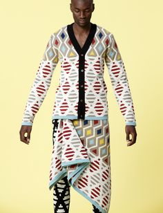 Come discover by graphic & colourful designs inspired by his Xhosa heritage on Tuesday for in by ethicalfashion African Print Fashion, Fashion Prints, Fashion Design, Ankara Fashion, African Prints, African Fabric, African Men, African Attire, African Style