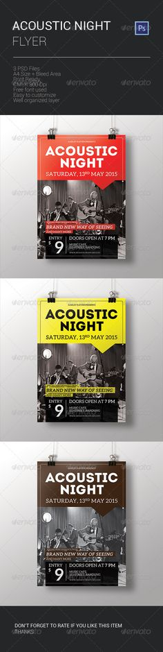 Realistic Graphic DOWNLOAD (.ai, .psd) :: http://vector-graphic.de/pinterest-itmid-1008178712i.html ... Acoustic Night Flyer ...  acoustic, ads, brown, cafe, club, concert, event, flyer, guitar, indie, jazz, music, night, pop, print, red, rock, simple, style, template, yellow  ... Realistic Photo Graphic Print Obejct Business Web Elements Illustration Design Templates ... DOWNLOAD :: http://vector-graphic.de/pinterest-itmid-1008178712i.html