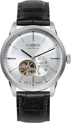 Zeppelin Watch Flatline #bezel-fixed #bracelet-strap-leather #brand-zeppelin #case-depth-12mm #case-material-steel #case-width-40mm #classic #delivery-timescale-call-us #dial-colour-silver #gender-mens #movement-automatic #official-stockist-for-zeppelin-watches #packaging-zeppelin-watch-packaging #style-dress #subcat-flatline #supplier-model-no-7364-4 #warranty-zeppelin-official-2-year-guarantee #water-resistant-50m