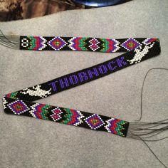 "Custom order beaded hatband  "" Circle (8) Beadwork """