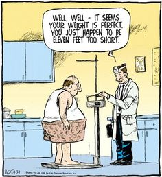 Funny Doctor Perfect Weight Too Short Cartoon