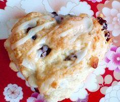 Cranberry White Chocolate Scones with Orange Icing - the best scone recipe ever.