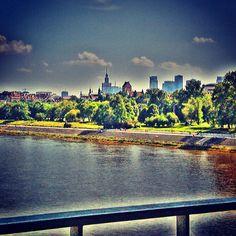 panoramic view from the bridge