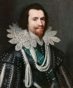 George Villiers, Duke of Buckingham featured in the novel of Alexandre Dumas' The Three Musketeers' with his supposed relationship with Anne of Austria. Ever see more pearls on one person?