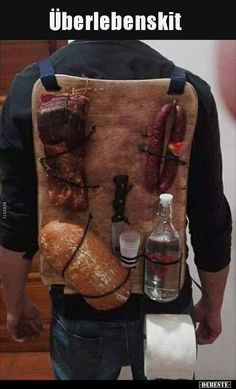 Survival Kit- Überlebensausrüstung  Survival kit ..   -#bestGiftMen #GiftMengadgets #GiftMenideas #GiftMenoutdoors #GiftMentravel #SurvivalKitsFunny Survival Equipment, Survival Gear, Survival Blog, Survival Supplies, Really Funny, Funny Photos, Funny Images, Picture Quotes, Funny Gifts