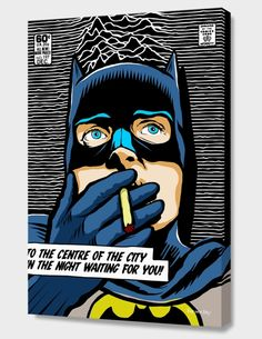 """""""Post-Punk Bat"""", Numbered Edition Canvas Print by Butcher Billy - From $69.00 - Curioos"""