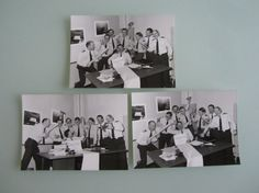 Three 5X7 Pictures of United States Air Force officers fooling around during Vietnam era.