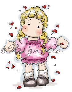 Special stamp Magnolia: Tilda Raining Hearts