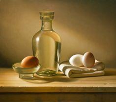 """3 Eggs"" 12"" x 16"" - Oil on Panel - © Brandon Flye"