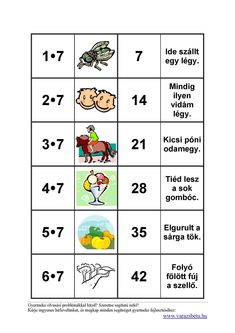 Szorzótábla - versben | Három gyerekkel irány Anglia! Math 2, Multiplication, Mathematics, Homeschool, Album, Education, Learning, Kids, Minion