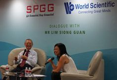 Engaged conversation between Mr Lim Siong Guan and Professor Hwee Hoon