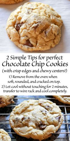 Classic Chocolate Chip Cookies recipe - tips for bakery style cookies with crisp edges and a soft and chewy center.