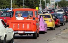 Cars are at a crawl during the Woodward Dream Cruise in Royal Oak on Saturday, Aug. 16, 2014.