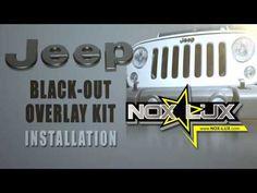 Jeep Blackout Emblem Overlay Kit Install Video #JeepWrangler #JeepJK #JeepCompass #JeepPatriot #JeepEmblems #BlackJeepEmblems  https://nox-lux.com/product/2007-2017-jeep-wrangler-jk-black-out-kit/
