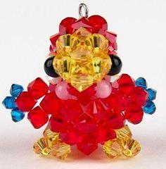 Handmade Beaded Crystal Toucan Parrot Charm by CustomCrystalCharms, $16.63