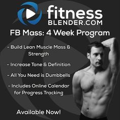 FB Mass: This 4 Week Program is a detailed, day-by-day plan, meticulously built to increase muscle mass quickly & effectively @ http://bit.ly/1CeWnd0 By properly cycling muscle groups & training styles this program helps safely & efficiently train 5 days a week to get the most size & strength gains. We have even included a section on how to make modifications to this program to focus on your specific goals; mass building, strength gains, intense muscle toning or a combination of each.