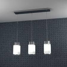 Lampada lampadario sospensione design moderno acciaio cromo vetro ...