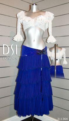 Ola Jordan sapphire white Latin dress
