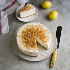 no-churn lemon ice cream cake. Easy lemon no-churn ice cream cake Lemon Ice Cream, Fish Pie, No Churn Ice Cream, Cake Tins, Cream Cake, Tray Bakes, Cake Recipes, Gin Recipes, Salad Recipes