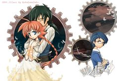 Princess tutu.   Awww look how he's holding her <3