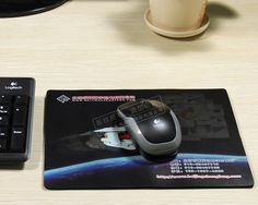Customize a mouse pad with our own design.