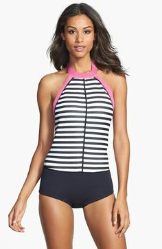 Roxy 'Hybrid Shortie' One-Piece Swimsuit (UPF 50+) available at #Nordstrom