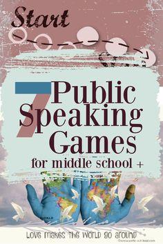 Public Speaking Activities, Speaking Games, Speech Activities, Class Activities, Middle School Games, Middle School Writing, Middle School English, Fun English Games, Class Games
