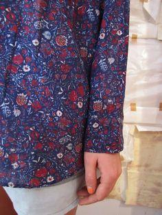 i love this fabric. isabel marant blouse via worthwhile.