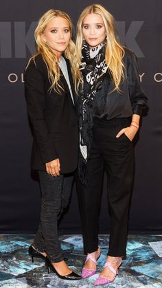 The Evolution of Mary-Kate and Ashley Olsen's Perfect Poses - August 7, 2013 from #InStyle. its their birthday!