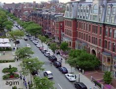 Newbury Street, Boston. Many an afternoon during uni was spent along here! Especially loved The Fairy Shop!