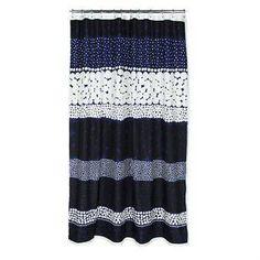 Marimekko Jurmo-suihkuverho sininen-valkoinen Sininen-valkoinen