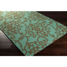 Hand-hooked Kiera Transitional Floral Indoor/ Outdoor Area Rug (2' x 3') (