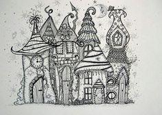 Fairy houses doodle